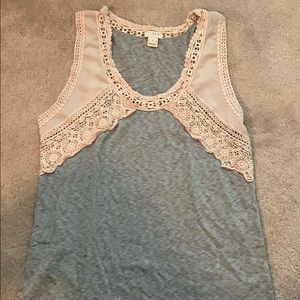 J. Crew lace and cotton tank